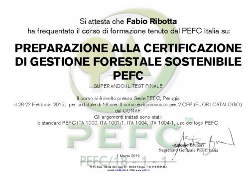 Attestato PEFC Ribotta