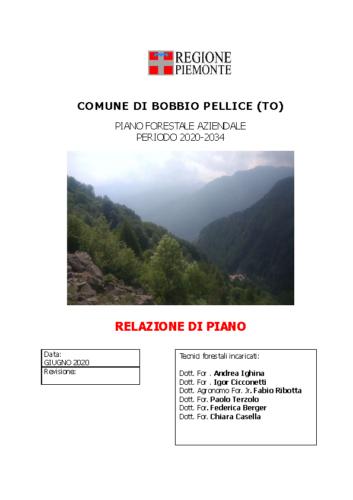 RELAZIONE PFA Bobbio Pellice