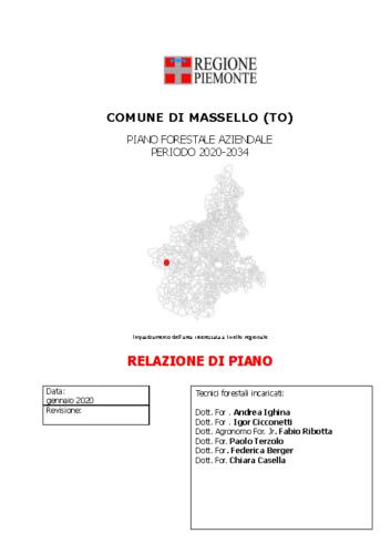 RELAZIONE PFA Massello_012020