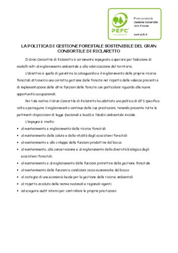 politica di gestione forestale sostenibile