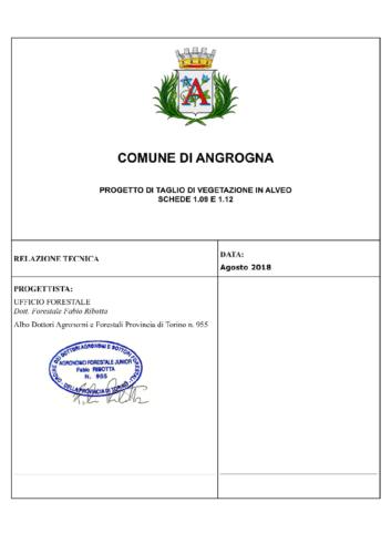 relazione di progetto taglio in alveo Angrogna